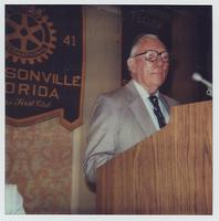 Claude Pepper addressing a Rotary Club meeting