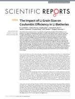 The Impact of Li Grain Size on Coulombic Efficiency in Li Batteries