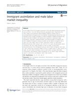 Immigrant assimilation and male labor market inequality