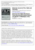 America's Civil Rights Revolution: Three Documentaries About Emmett Till's Murder in Mississippi (1955)