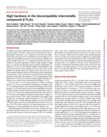High hardness in the biocompatible intermetallic compound beta-Ti3Au