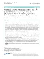 Anchored enrichment dataset for true flies (order Diptera) reveals insights into the phylogeny of flower flies (family Syrphidae)