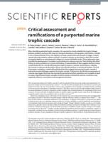 Critical assessment and ramifications of a purported marine trophic cascade