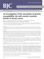 An investigation of the association of genetic susceptibility risk with somatic mutation burden in breast cancer