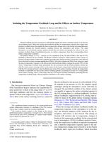 Isolating the Temperature Feedback Loop and Its Effects on Surface Temperature