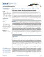 Opportunities for hydrologic research in the Congo Basin