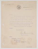Order from the Chief of Bureau of Navigation appointing R. H. Leigh a Member of a General Court Martial