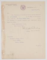 Order from the Bureau of Navigation appointing Richard H. Leigh a Lieutenant in the Navy