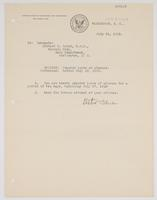 Order from the Bureau of Navigation granting Richard H. Leigh a ten-day leave of absence