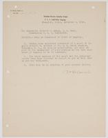 Order from the United States Asiatic Fleet for Richard H. Leigh to report for duty as President of Court of Inquiry