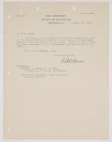 Letter to Leigh from Victor Blue regarding an undated letter of commendation