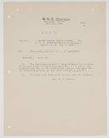 Order from W. C. Cowles for the Commanding Officer of the U.S.S. Galveston