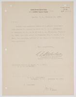 Order from the Rear Admiral for Richard H. Leigh to report for a general court martial