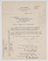 Order from Navy Department assigning Richard H. Leigh to temporary duty in Boston, Mass.