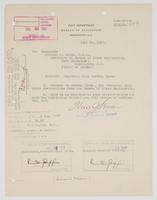 Order from Navy Department assigning Richard H. Leigh to temporary duty in Boston, Mass., in addition to present duties