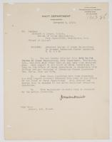 Order from Navy Department detaching Richard H. Leigh from the Bureau of Steam Engineering in order to command Submarine Chaser Squadrons