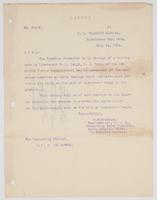 Letter from R. B. Bradford addressing the receipt of a tracing made by R. H. Leigh