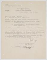 Correspondence between R. H. Leigh and Bureau of Navigation regarding small arms target practice