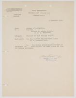 Bureau of Navigation's acknowledgment of Richard H. Leigh's request for War College Course