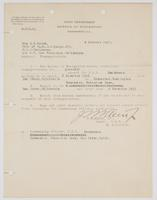 Authorization for Mrs. R. H. Leigh to be transported aboard the U. S. S. Henderson