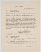 Correspondence between H. W. Johnson and R. H. Leigh about travel allowance payment