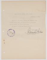 Authorization for R. H. Leigh and Max Mason to circulate freely within the Second Army Area