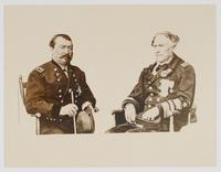 Two Men in Decorated Military Uniforms