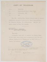 Copy of Telegram from Admiralty to Commander-in-chief, Grand Fleet