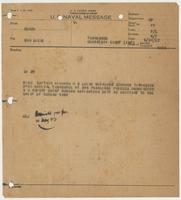 U.S. Naval Message from BuNav to Richard H. Leigh