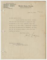 Letter to Captain Leigh from Henry Cabot Lodge
