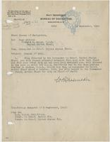 Order from the Bureau of Navigation assigning Richard H. Leigh change of duty