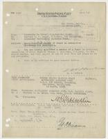 Order from E. W. Eberle appointing R. H. Leigh as member of Board on casualties – machinery