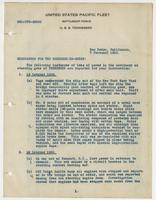 Memorandum for the Engineer-in-chief regarding loss of power in the machinery of steering gear of the U.S.S. Tennessee