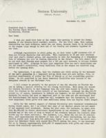 Letter addressed to FSU President Doak S. Campbell from Stetson University President J. Ollie Edmunds