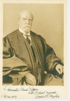 Inscribed portrait of Justice Charles E. Hughes