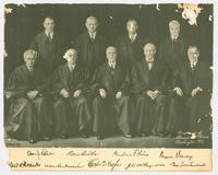 Portrait of nine Supreme Court Justices with signatures in lower margin