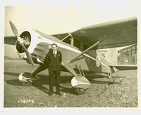 Autographed photograph of Herbert Whitney and State of Florida plane