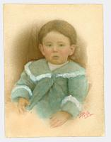 Studio portrait of unidentified child