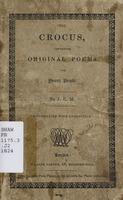 The crocus: containing original poems, for young people