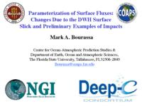 Parameterization of Surface Fluxes: Changes Due to the DWH Surface Slick and Preliminary Examples of Impacts