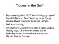 Tracers in the Gulf