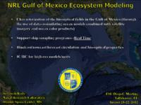 NRL Gulf of Mexico Ecosystem Modeling
