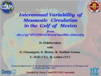 Interannual Variability of Mesoscale Circulation in the Gulf of Mexico