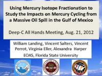 Using Mercury Isotip Fractionation to Study the Impacts of Mercury Cycling from a Massive Oil Spill in the Gulf of Mexico