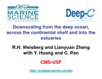 Downscaling from the deep ocean, across the continental shelf and into the estuaries