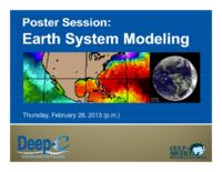 Poster Session: Earth System Modeling