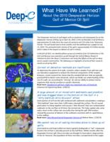 What Have We Learned? About the 2010 Deepwater Horizon Gulf of Mexico Oil Spill