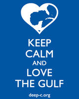 Keep Calm and Love the Gulf Sticker