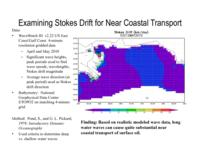 Year 1 Progress: Examining Stokes Drift for Near Coastal Transport