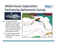 NOAA Ocean Exploration Partnership Bathymetric Survey